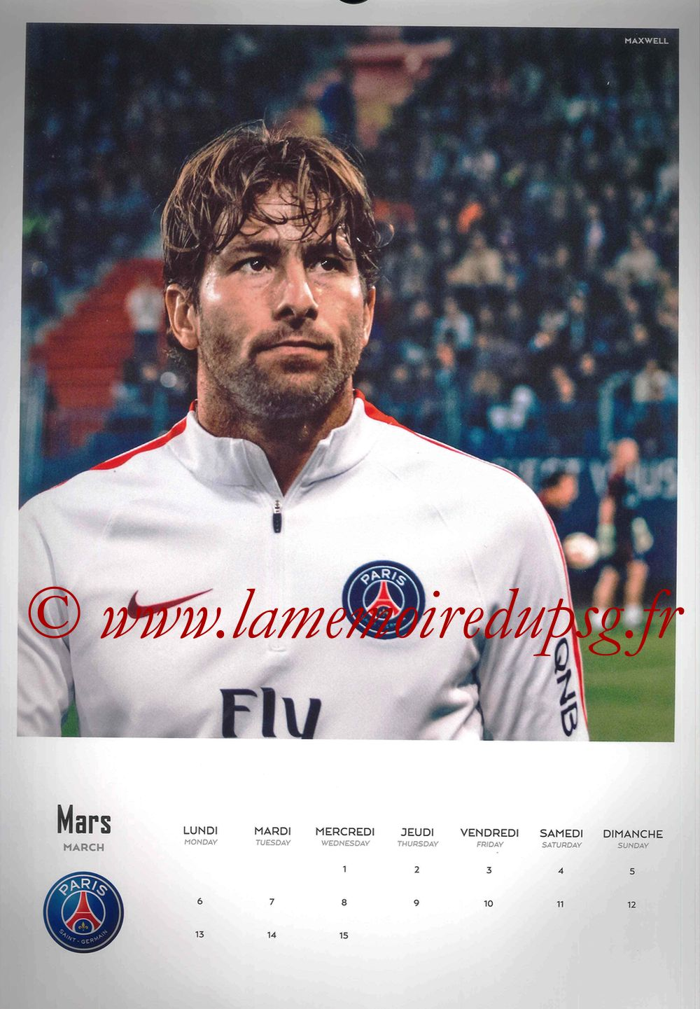 Calendrier PSG 2017 - Page 05 - MAXWELL