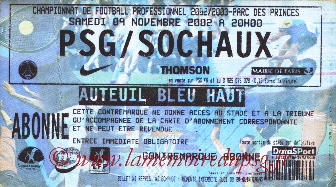 2002-11-09  PSG-Sochaux (14ème L1)