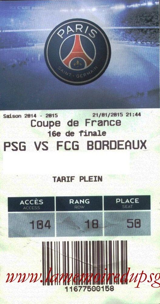 2015-01-21  PSG-Bordeaux (16ème CF, E-ticket bis)
