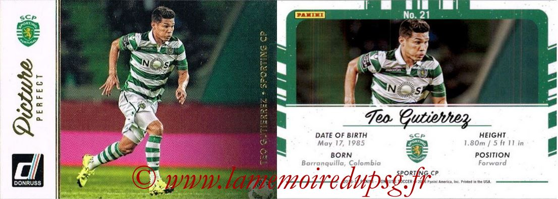 2016 - Panini Donruss Cards - N° PP21 - Teo GUTIERREZ (Sporting CP) (Picture Perfect)