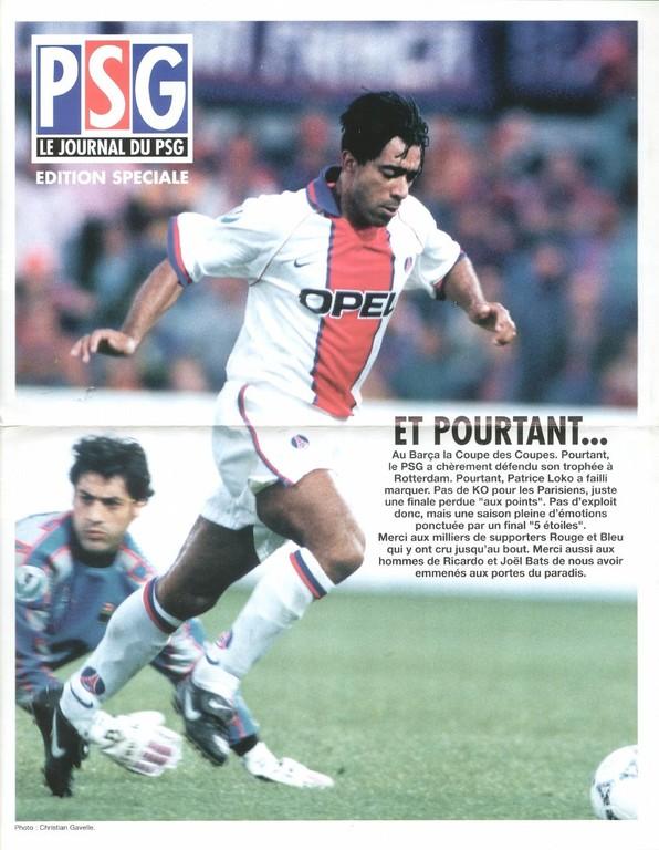 1997-05-25  Edition spéciale PSG-Barcelone (Le Journal du PSG)