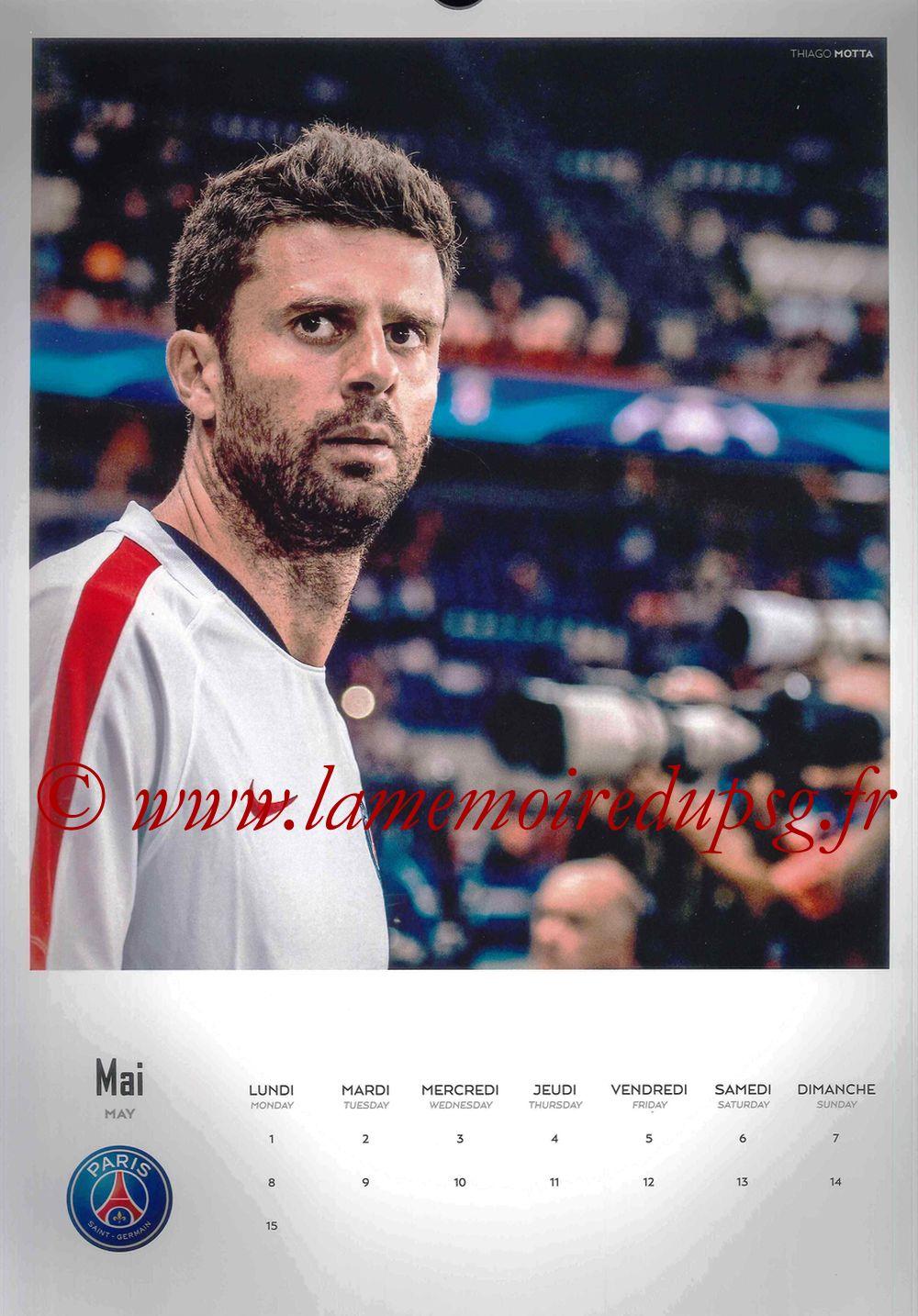 Calendrier PSG 2017 - Page 09 - Thiago MOTTA