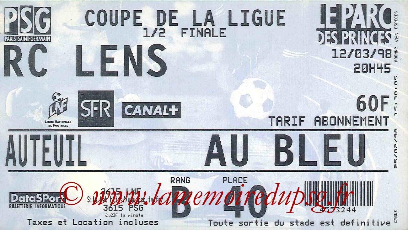 1998-03-12  PSG-Lens (Demi-Finale CL)