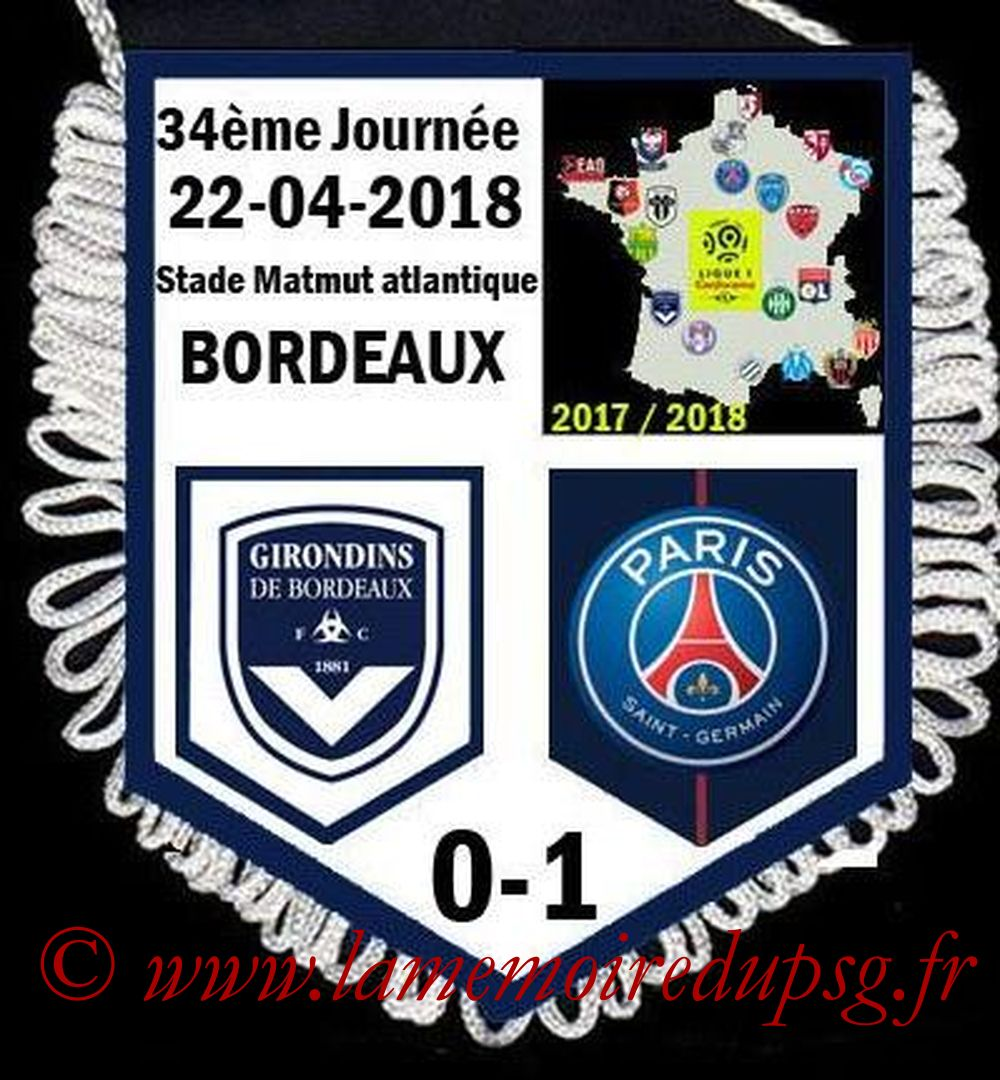 2018-04-22  Bordeaux-PSG (34ème L1)