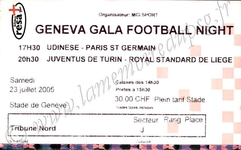 2005-07-23  PSG-Udinese (Amical à Genève)