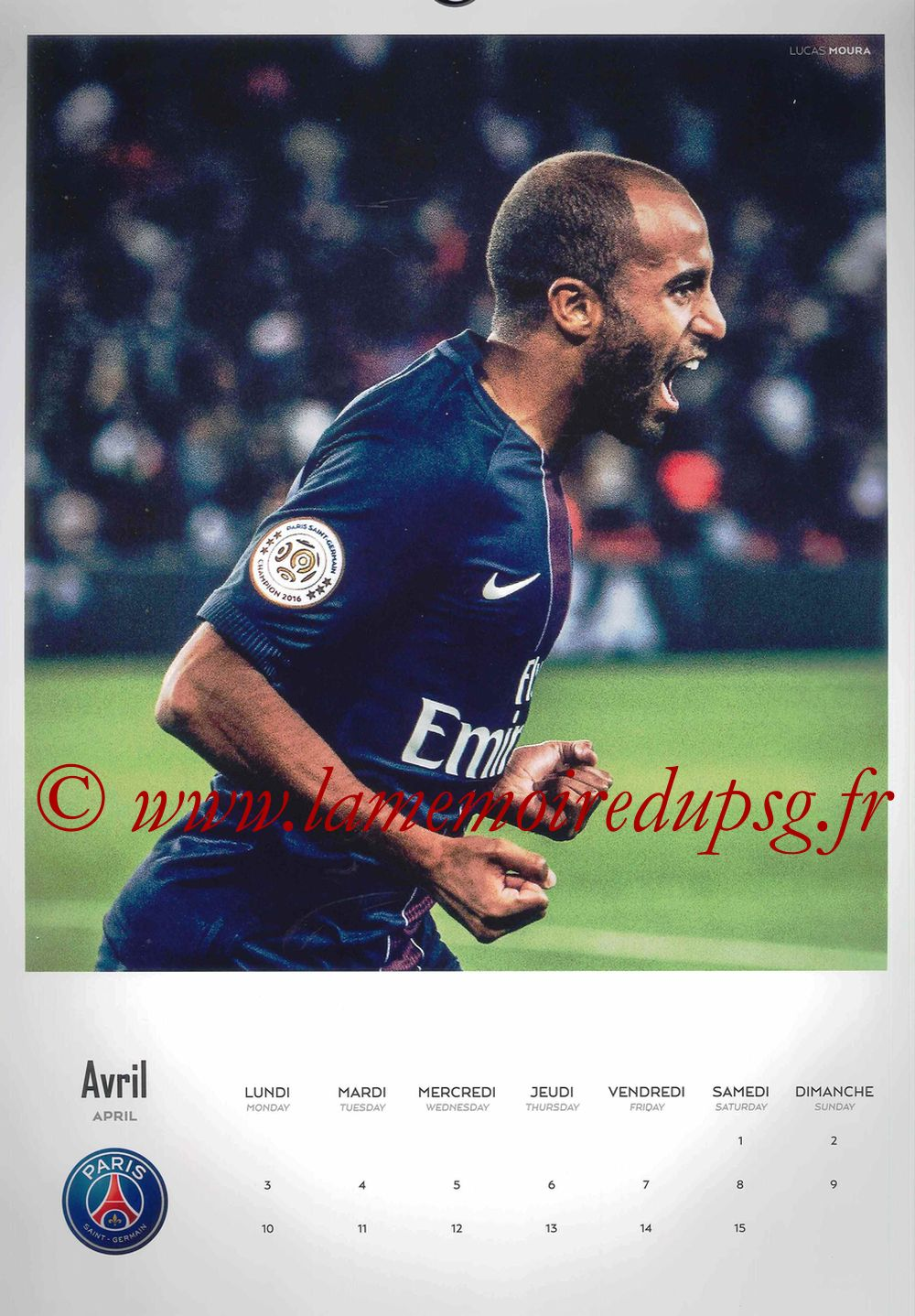 Calendrier PSG 2017 - Page 07 - LUCAS