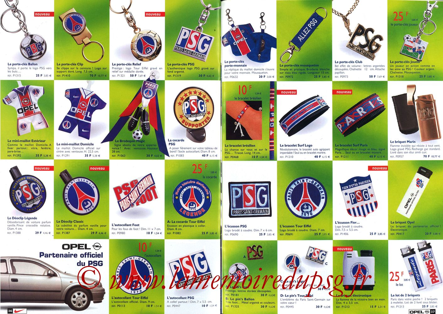 Catalogue PSG - 1998-99 - Pages 36 et 37