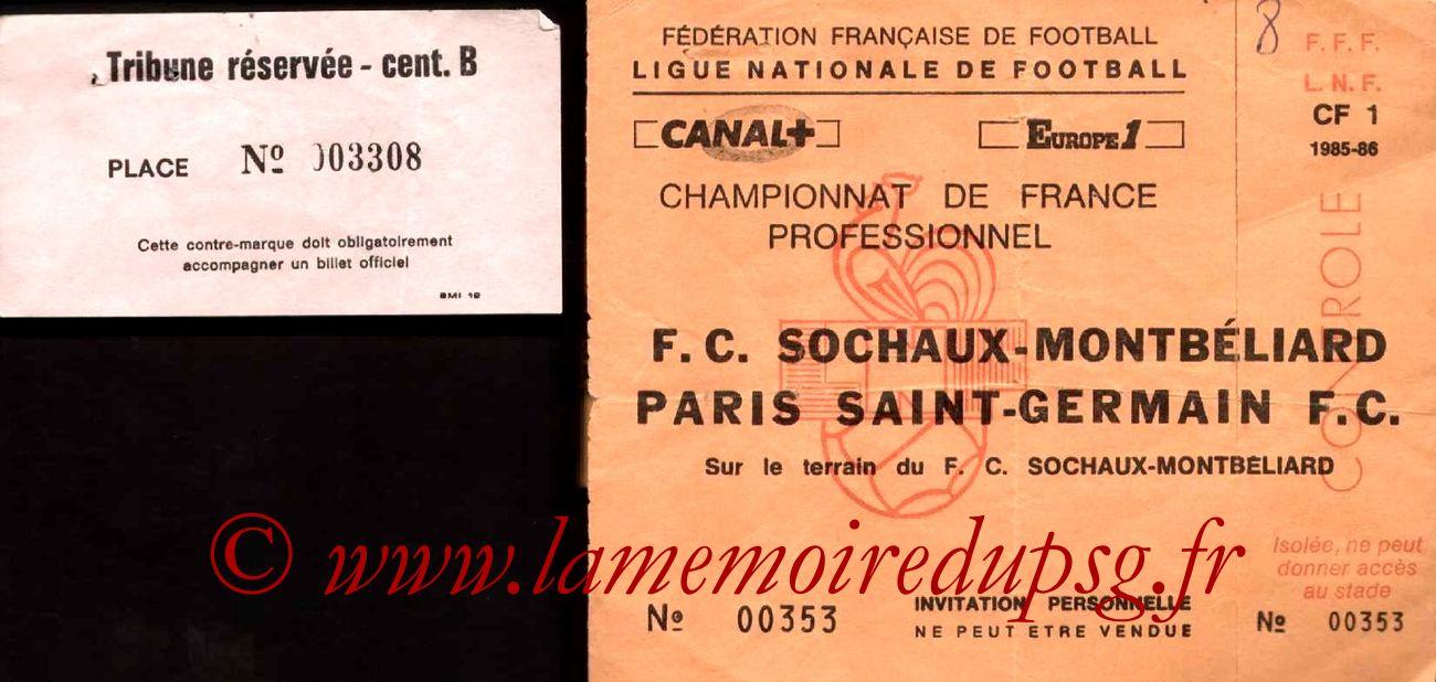 1986-04-08  Sochaux-PSG (31ème D1, Match en retard, Invitation)