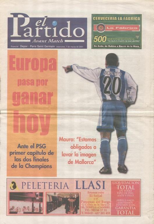 2001-03-07  La Corogne-PSG (5ème Poule C1, 2ème Phase, El Partidol)