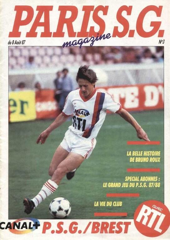 1987-08-08  PSG-Brest (4ème D1, Paris SG Magazine N°3).jpg
