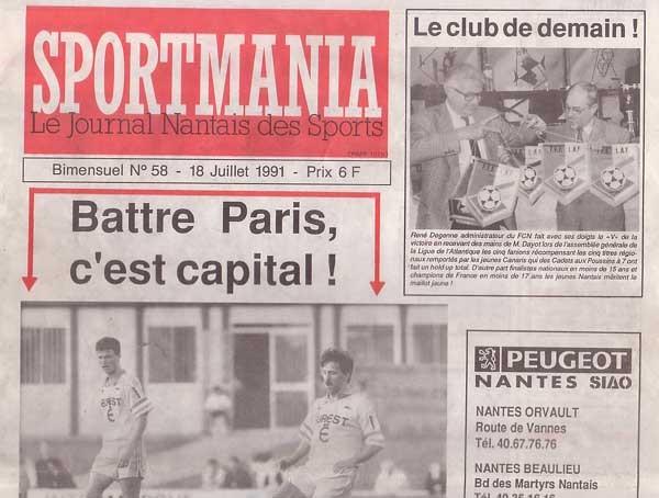 1991-07-20  Nantes-PSG (1ère D1, Sportmania N°58)