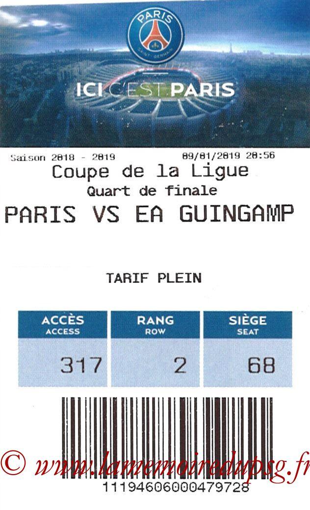 2019-01-09  Guingamp-PSG (Quart CL, E-ticket)