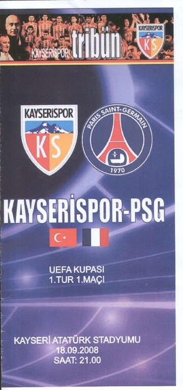2008-09-18  Kayserispor-PSG (1er Tour Aller C3, Officiel)