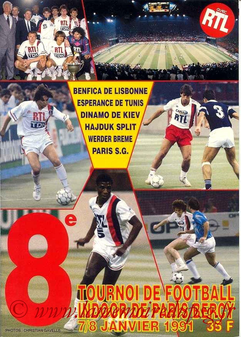 1991-01-07 et 08  8ème Tournoi indoor de Bercy