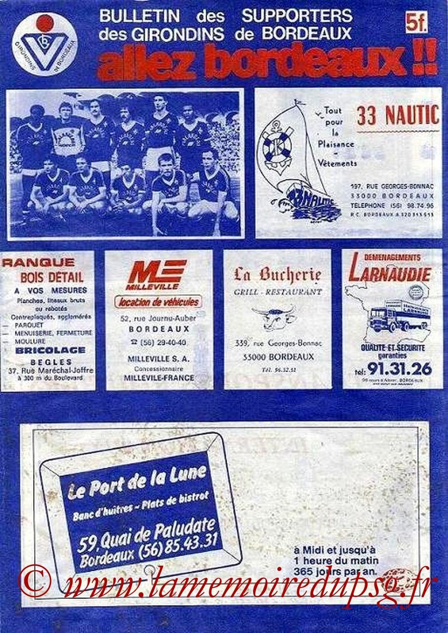 1981-10-30  Bordeaux-PSG (16ème D1, Allez Bordeaux)