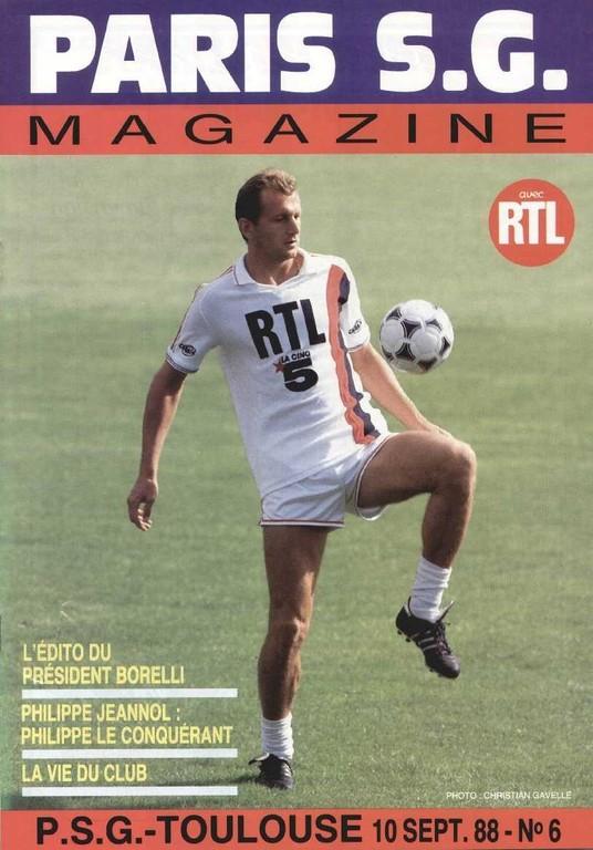 1988-09-10  PSG-Toulouse (11ème D1, Paris SG Magazine N°6)