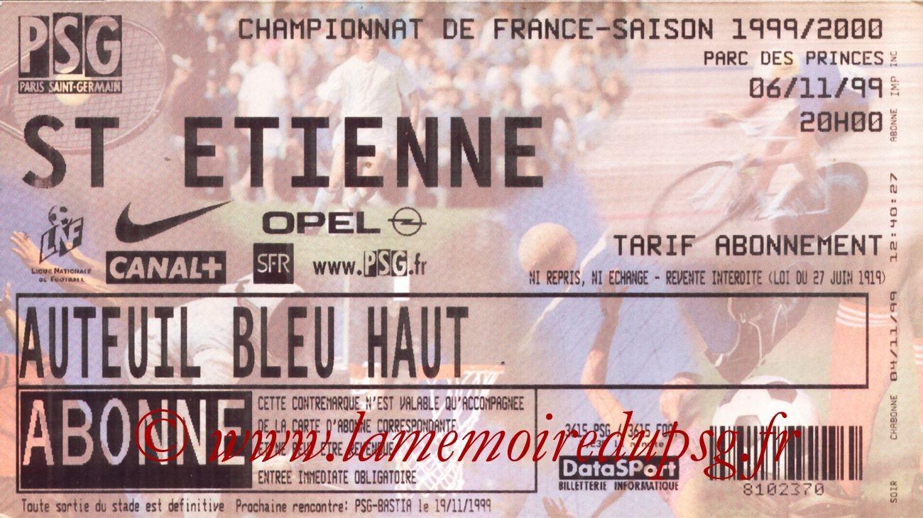 1999-11-06  PSG-Saint Etienne (14ème D1)
