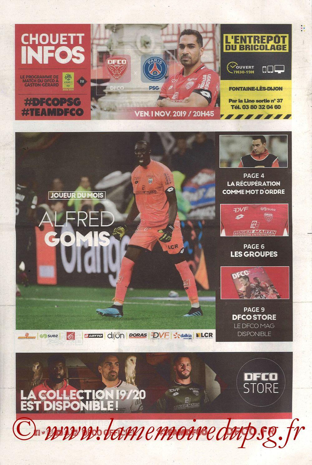 2019-11-01  Dijon-PSG (12ème L1, Chouett Infos)