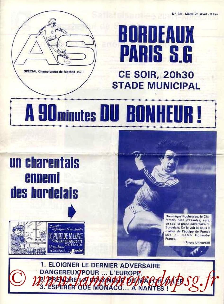 1981-04-21  Bordeaux-PSG (33ème D1, AS N°38)