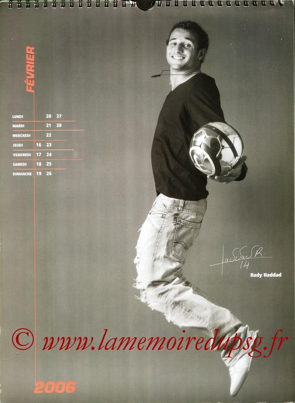 Calendrier PSG 2006 - Page 04 - Rudy HADDAD