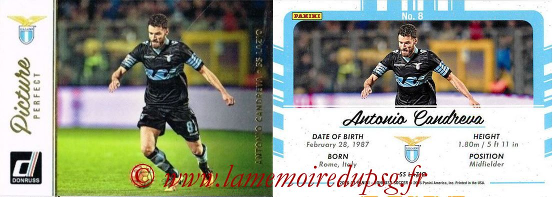 2016 - Panini Donruss Cards - N° PP08 - Antonio CANDREVA (SS Lazio) (Picture Perfect)