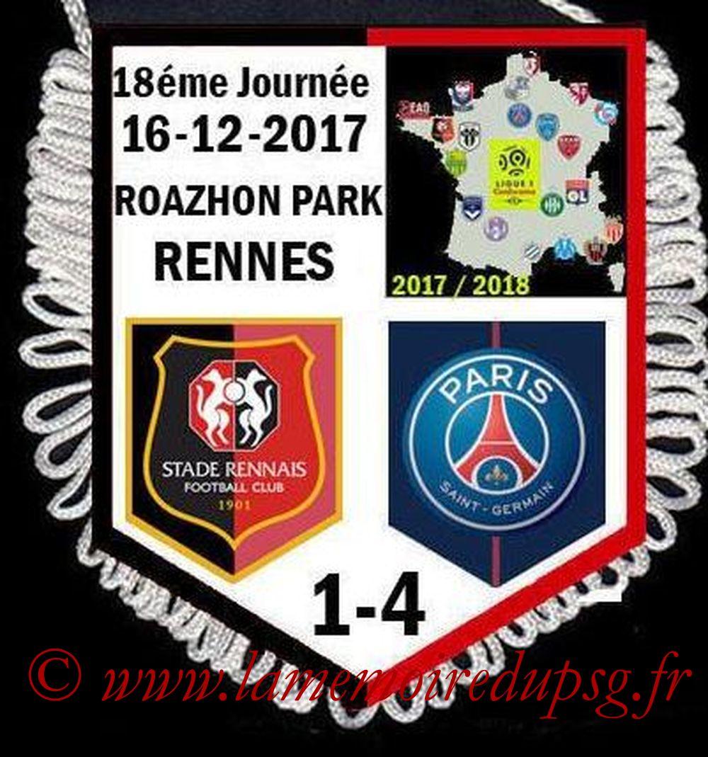 2017-12-16  Rennes-PSG (18ème L1)