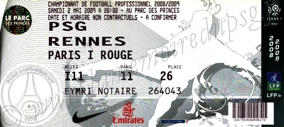2009-05-03  PSG-Rennes (34ème L1, bis)