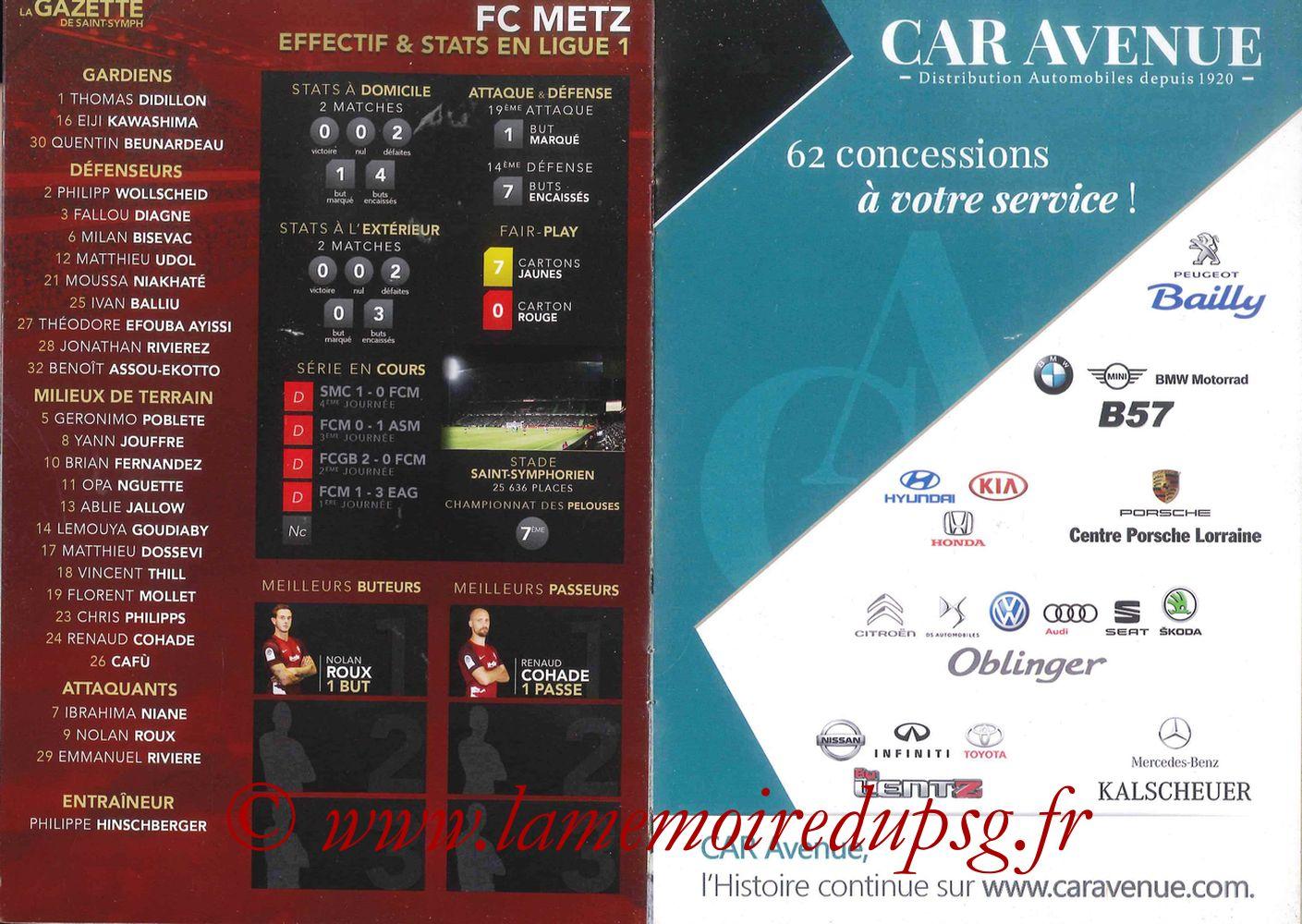 2017-09-08  Metz-PSG ((5ème L1, La Gazette de Saint-Symph) - Pages 10 et 11