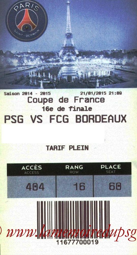 2015-01-21  PSG-Bordeaux (16ème CF, E-ticket)