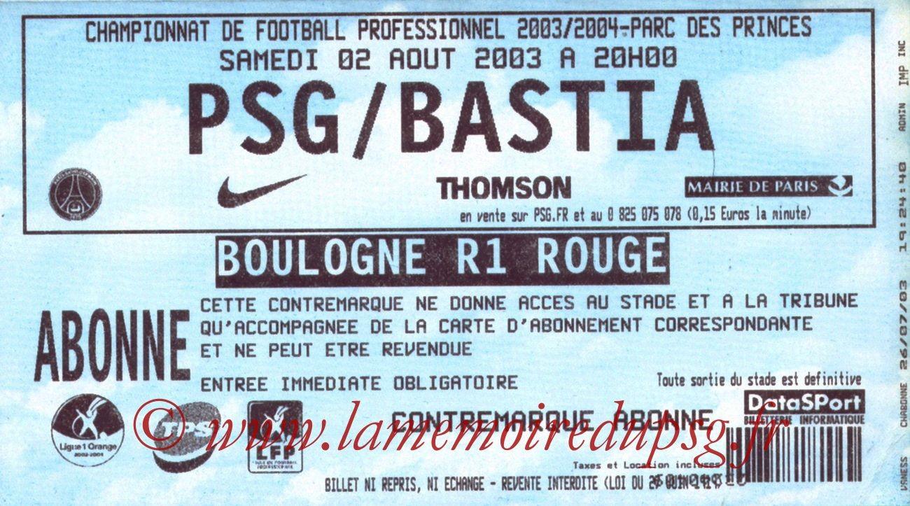 2003-08-02   PSG-Bastia (1ère L1)