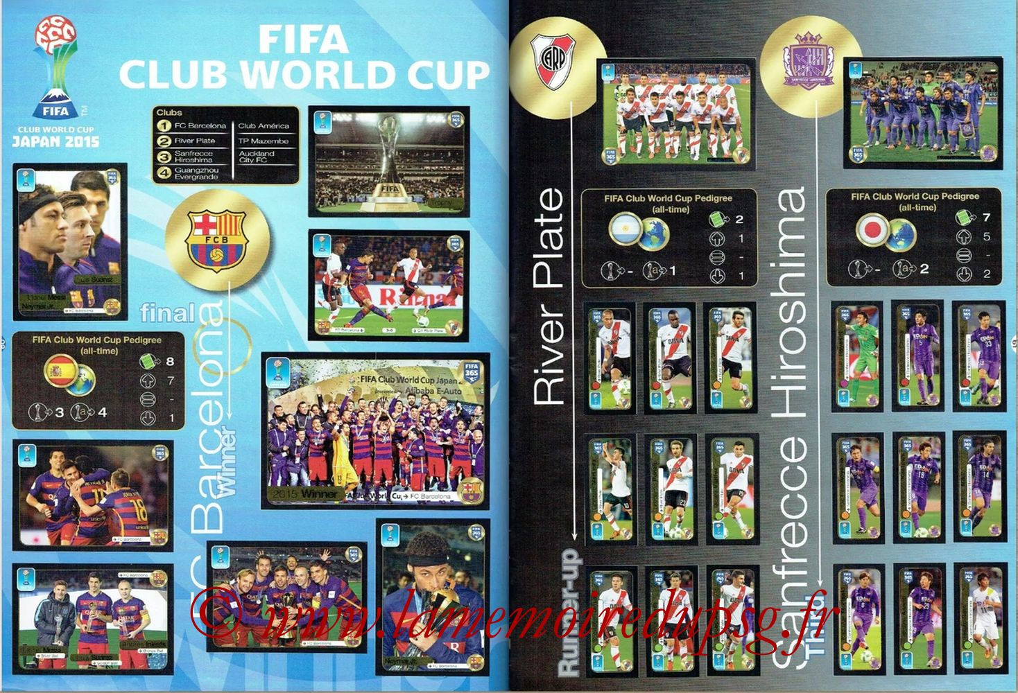 2016-17 - Panini FIFA 365 Stickers - Pages 60 et 61 - FIFA Club World Cup + River Plate et Sanfrecce Hiroshima
