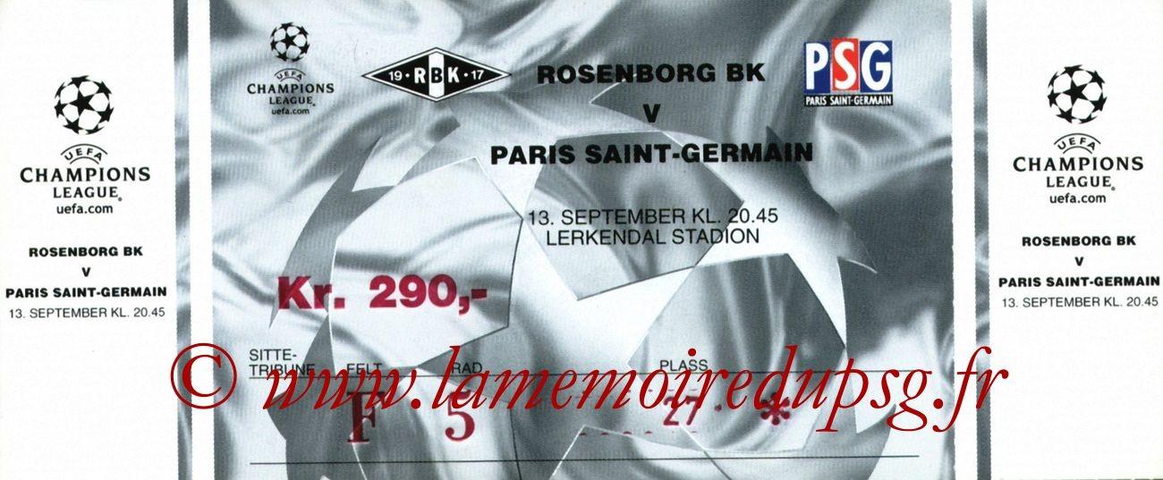 2000-09-13  Rosenborg-PSG (1ère Phase Poule C1, 1ère Journée)