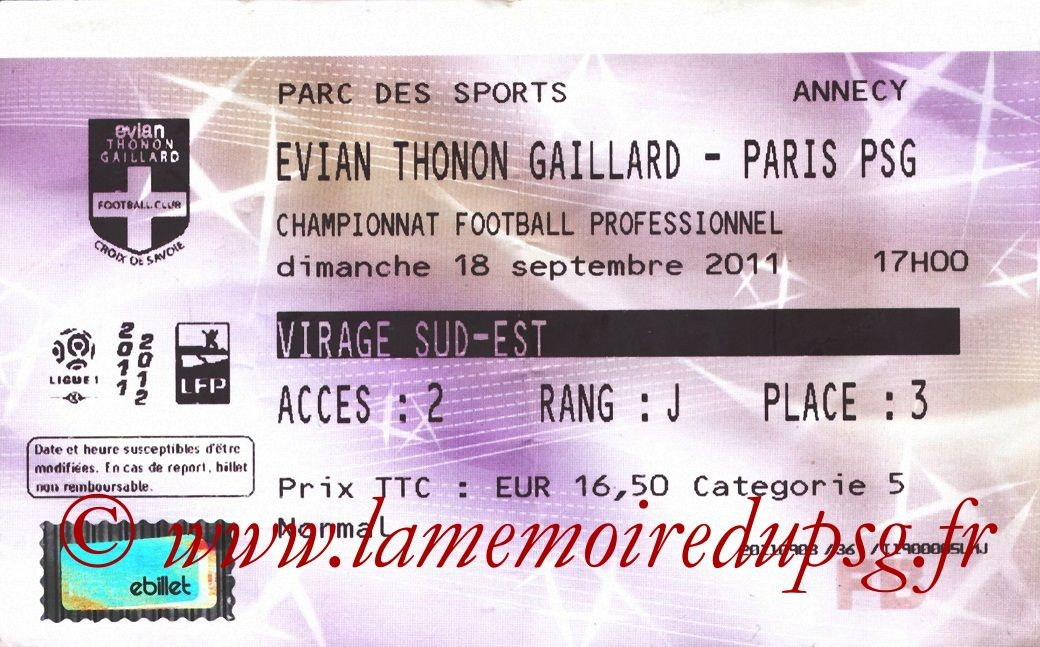 2011-09-18  Evian TG-PSG (6ème L1, Francebillet)