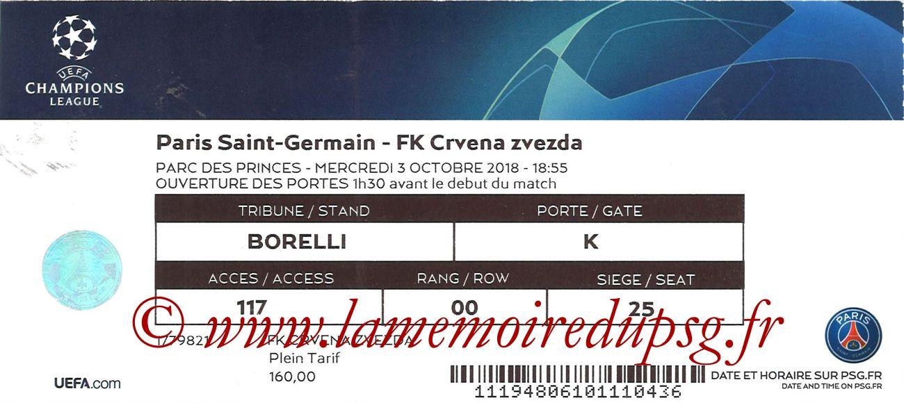 2018-10-03  PSG-Etoile Rouge de Belgrade (2ème C1)