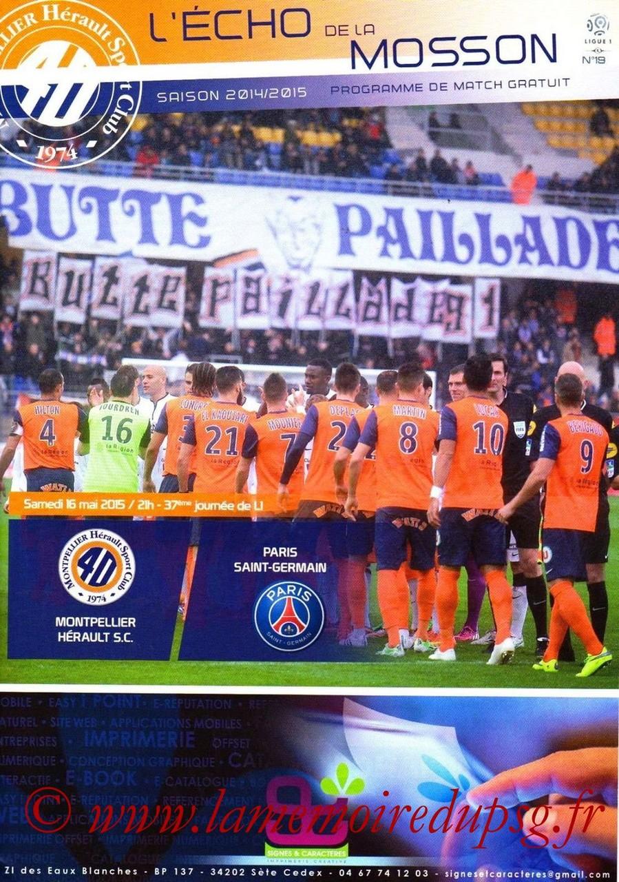 2015-05-16  Montpellier-PSG (37ème L1, L'Echo de la mosson N°19)