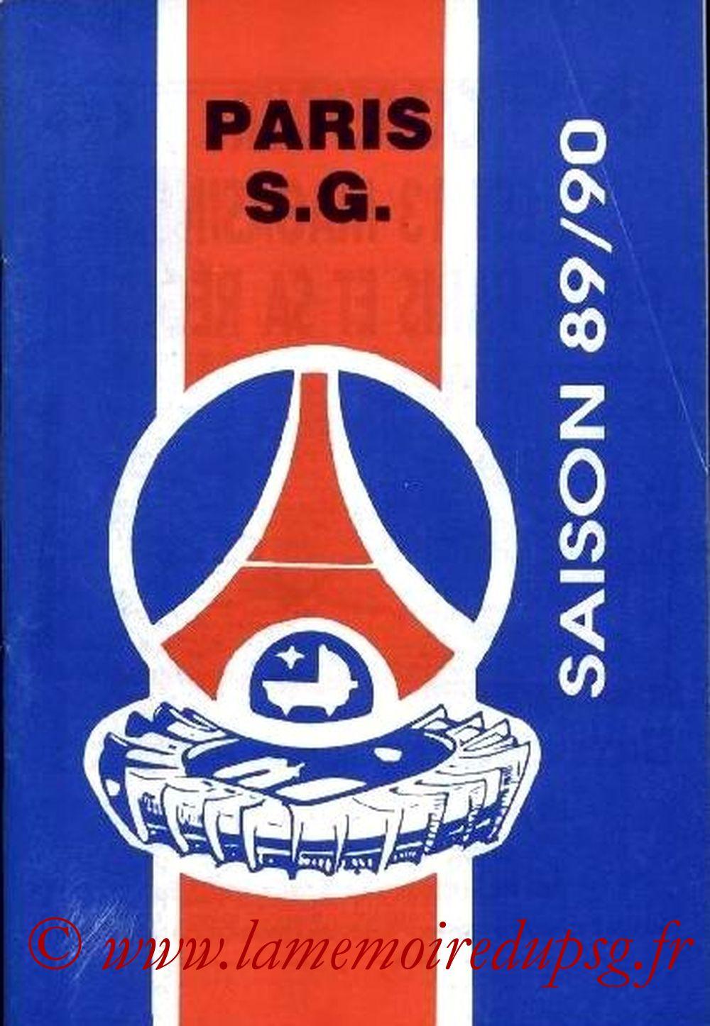 1989-90 - Guide de la Saison PSG