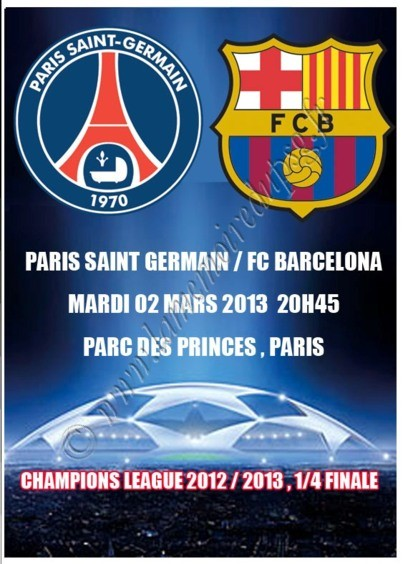 2013-04-02  PSG-FC Barcelone (Quart Finale Aller C1, Programme pirate)