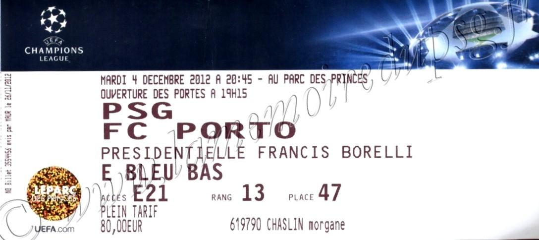 2012-12-04  PSG-FC Porto (6ème Journée Poule C1)