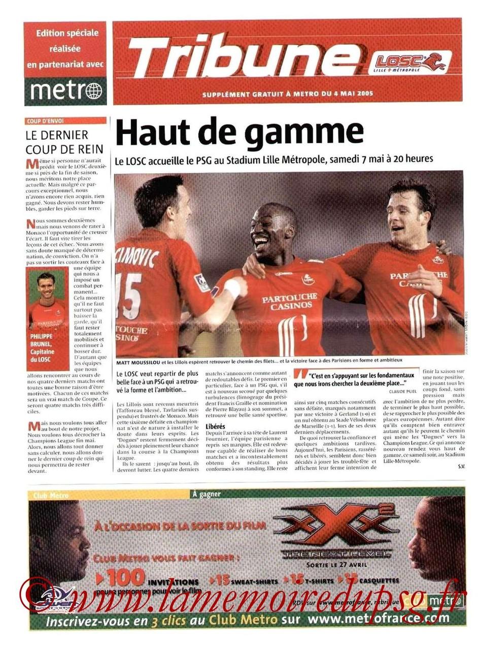 2005-05-07  Lille-PSG (35ème L1, Tribune LOSC)