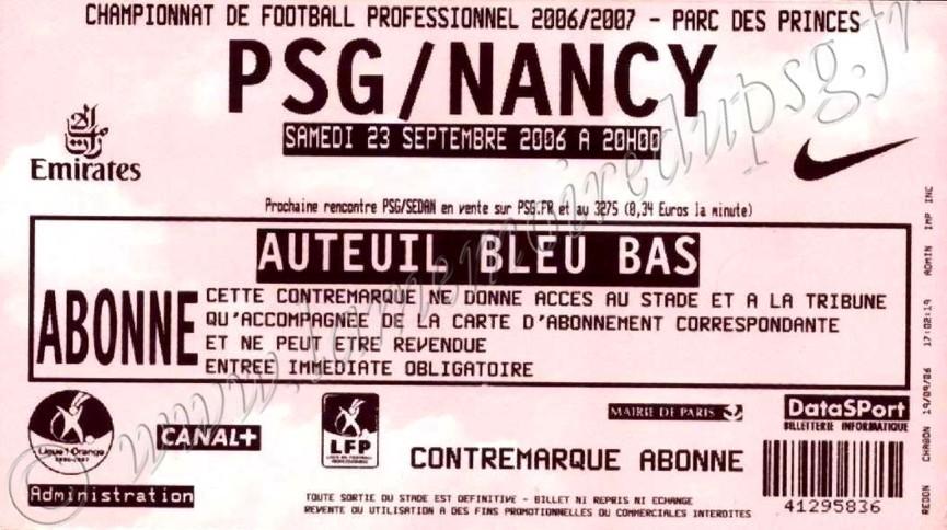 2006-09-23  PSG-Nancy (7ème L1)
