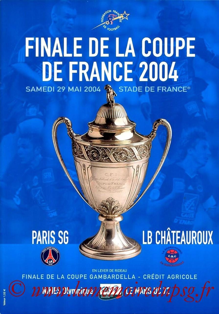 2004-05-29  PSG-Chateauroux (Finale CF à Saint-Denis, Programme officiel FFF)