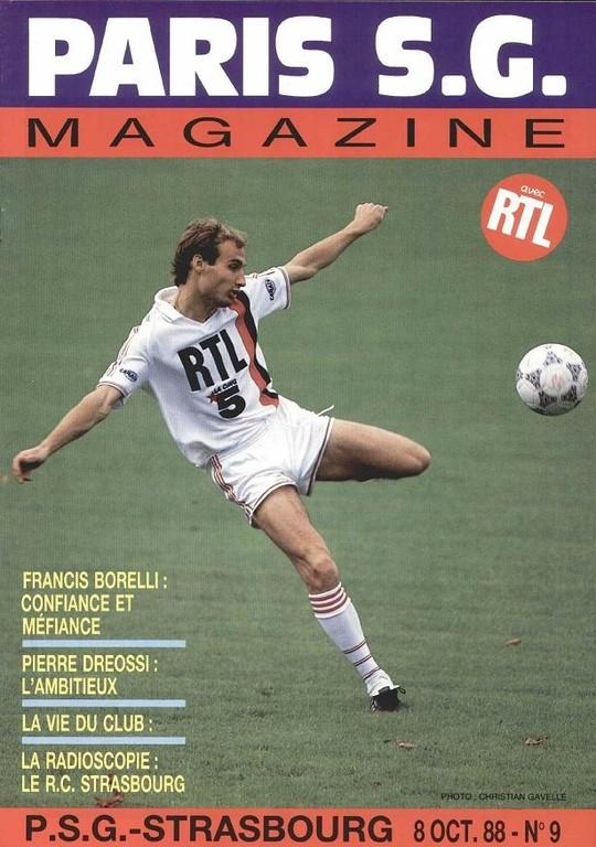 1988-10-08  PSG-Strasbourg (15ème D1, Paris SG Magazine N°9)