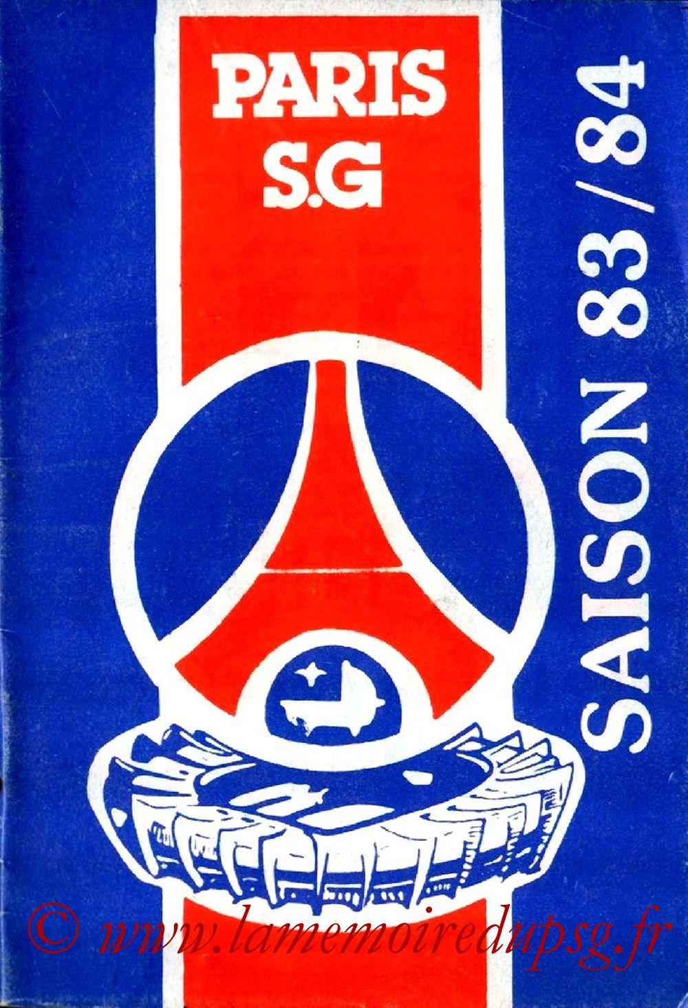 1983-84 - Guide de la Saison PSG
