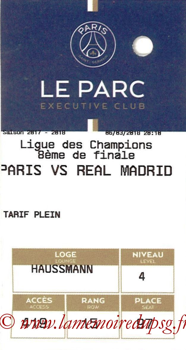 2018-03-06  PSG-Real Madrid (8ème Retour C1, E-ticket Executive club)