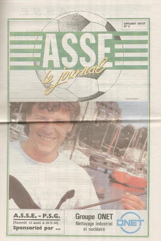 1989-08-12  Saint Etienne-PSG (5ème D1, ASSE le Journal N°2)