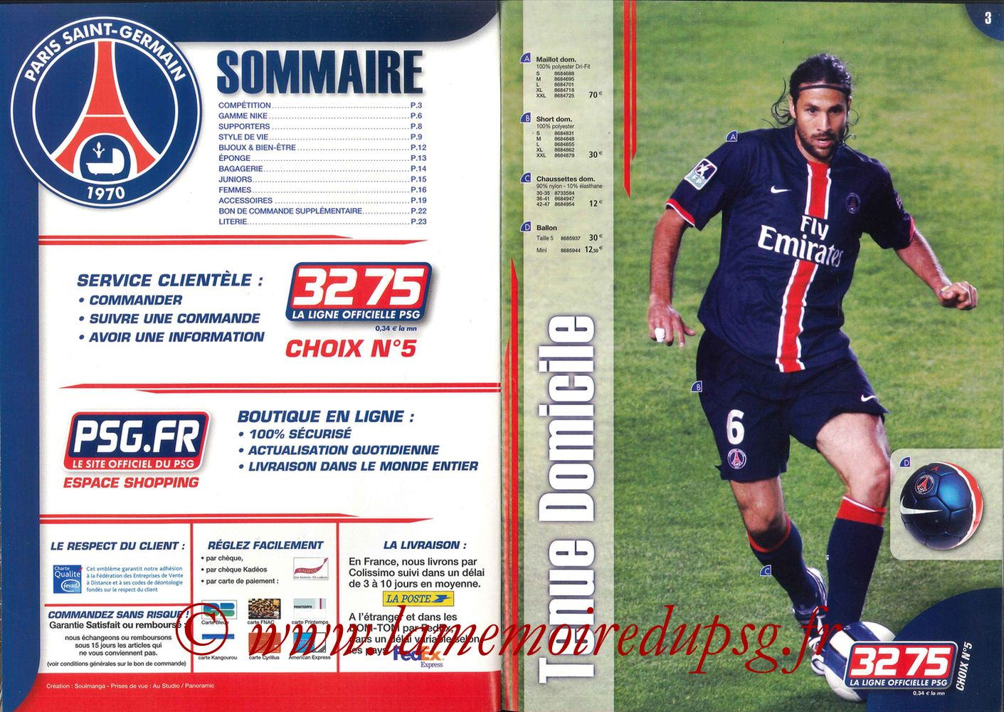 Catalogue PSG - 2006-07 - Pages 02 et 03