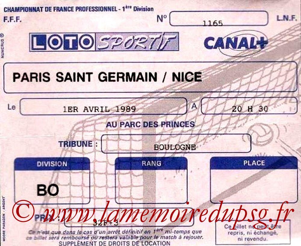 1989-04-01  PSG-Nice (32ème D1)