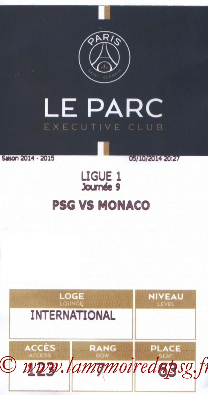 2014-10-05  PSG-Monaco (9ème L1, Executive club, E-ticket)
