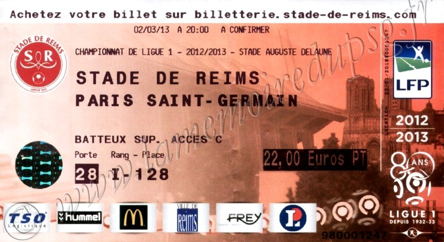 2013-03-02  Reims-PSG (27ème L1)
