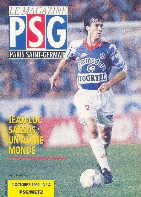 1992-10-04  PSG-Metz (9ème D1, Le Magazine PSG N°4)